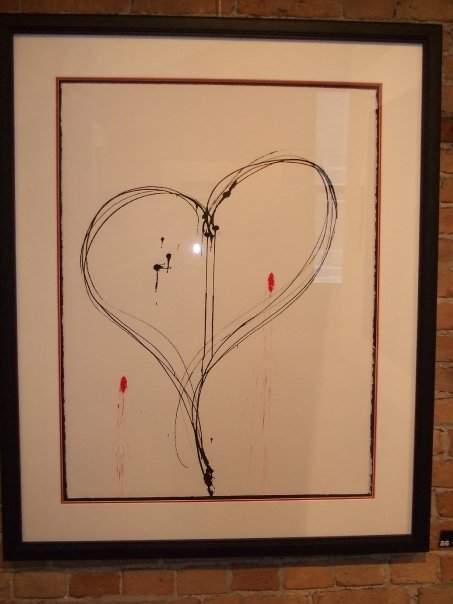 "heart 30"" x 22"" ink on paper 2004 NFS"
